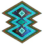 Ethnic Hipster Navajo Geometric Native Indian Galaxy