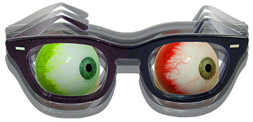 Look Out! Bloodshot Eyeball Glasses Shirt