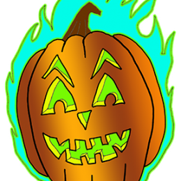 burning-flaming-halloween-pumpkin-jackolantern