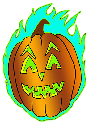 Burning Pumpkin Halloween T Shirt!
